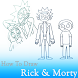 How To Draw Rick and Morty step by step by HowToDraw Applications