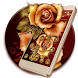 Golden Red Luxury Rose Theme by Launcher Fantasy