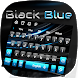 Black Blue Keyboard by Super Cool Keyboard Theme