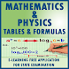 FORMULA AND TABLES FOR PHYSICS AND MATHS 2018