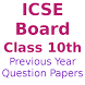 ICSE Board class 10th Last Year Questions Papers by Subhadra AK