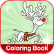 Rudolph Reindeer Coloring Book by Coloring World
