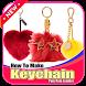 How To Make Keychain Pom Pom Leather