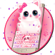 Keyboard - Cute Kitty pinky Free Emoji Theme by Kika Free Theme for Android