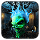 Flaming Skull Theme by Excellent launcher