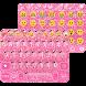 Pink Glitter Keyboard Theme by Colorful Art