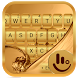 Samsung Galaxy Gold Keyboard Theme by Apple Theme