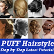 PUFF Hairstyle Step by Step VIDEO App Girls Women
