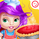 Baby Zoe cooking Cheesecake by winkypinky