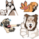 Dogs Chat Stickers by stickotalk