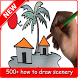 drawing scenery step by step by Zein App
