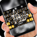 Diamond Shining Butterfly Keyboard Luxury Gold by Super Hot Themes Design Studio