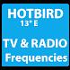 TV and Radio Frequencies on HotBird Satellite