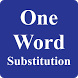 One Word Substitution