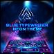 Blue typewriter neon by B-P Theme Design Studio