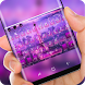 Purple Paris Keyboard Eiffel Tower Wallpaper Theme by Super Hot Themes Design Studio