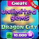 Cheat Free Gems Dragon City Simulation by Jack Dev App