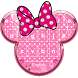 Minny Cute Pink Bowknot Keyboard Theme by Lele Theme Studio