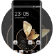 Gold Butterfly Theme for Lenovo K8