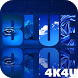 4K Blue Colored Stylish Video Live Wallpaper