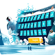 Blue Ice Sea Penguin Balloon Theme Summer Keyboard by Brandon Buchner
