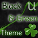 GO Launcher Theme Black Green by Uebdisain