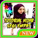 tutorial hijab segi empat by Maknawiyah
