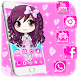 Cute Pink Baby Girl Cartoon Theme by Maddy Manjrekar