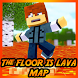 The floor is LAVA Map Challenge for MCPE by Sodolbaid