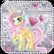 Cute Princess Unicorn Keyboard