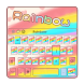 Cute Rainbow Keyboard Theme by Echo Keyboard Theme