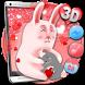 3D Cute Bunny Love Theme by Launcher Design