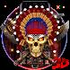 3d Nativ American Skull Theme