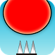 Red Bouncing Ball Spikes by AppHappyGames