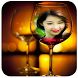 Wine Glass Photo Frame HD by PhotoMaker