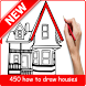 how to draw house step by step by Zein App