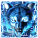 Blue fire Ice wolf keyboard by Bestheme keyboard Creator 2018