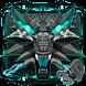3d Neon Iron Wolf Theme