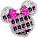 Twinkle Minny Bowknot Keyboard Theme by Kika Free Theme for Android