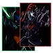 Neon Undyne Wallpapers by Micah Bronitsky