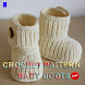 Crochet Pattern Baby Boots by newerica