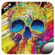 Colorful skull head theme by bestthemedeveloper
