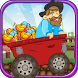 Speedy gold cart : rail track by LancerWonders