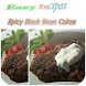 Spicy Black Bean Cakes