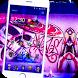 Street art graffiti theme 3D by cool theme design personalization phone