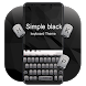 Simple Black Keyboard by Keyboard Theme Factory