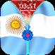 Argentina Flag Zipper Lock Screen by Epoch Zipper Studio
