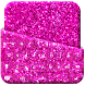 Pink Glitter Keyboard by Mega Lab Studio