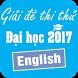 Giải đề thi thử Tiếng Anh 2017 by NGHIÊM XUÂN TRƯỜNG