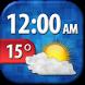 Cool Weather Clock Widget by Super Widgets